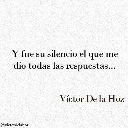 El silecio a veces dice mas que las palabras.... ambos silencios... en menos de un mes