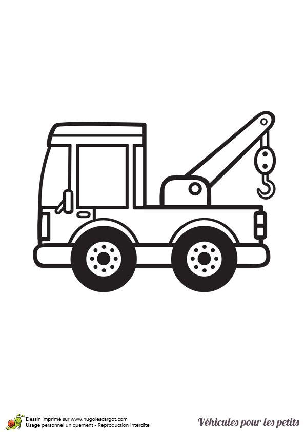 Les 86 meilleures images du tableau coloriages de camions sur pinterest camions chantier et - Coloriage voiture enfant ...