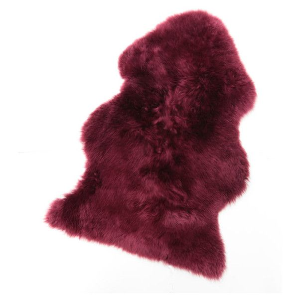 Burgundy Sheepskin Rug ($60) ❤ liked on Polyvore featuring home, rugs, burgundy area rugs, pile rug, textured rugs, machine washable area rugs and coloured rug