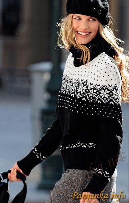 Жаккардовый пуловер (ж) 397 Creations 11/12 (Бержер)   http://parijanka.info/jenskie-modeli/index.php?option=com_content&view=article&catid=16:2010-01-25-12-23-26&id=1898:---397-creations-1112-bdf-1826