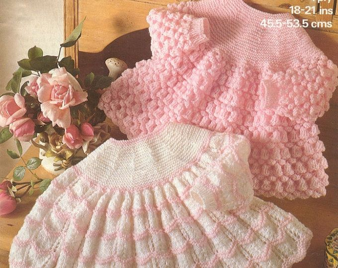 Marriner 1844 Vintage Knit Pattern for Beautiful baby Angel Tops instant download knitting pattern