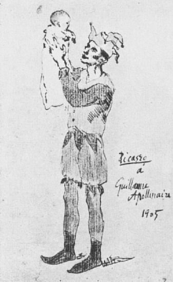 """Pablo Picasso - """"Arlequin avec enfant"""". 1905"""