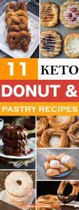 11 Gluten-Free Sugar-Free Donut and Pastry Recipes for a Ketogenic Diet