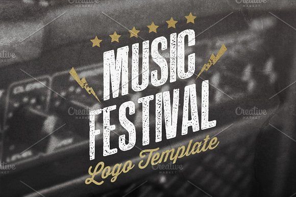 Music Festival Logo Template by Rooms Design Shop on @creativemarket