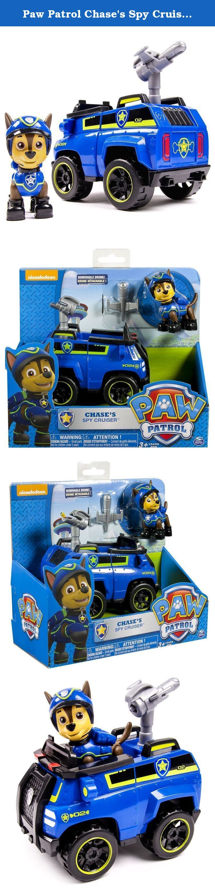 Paw Patrol Chase's Spy Cruiser, Vehicle and Figure (works with Paw Patroller). No job is too big and no pup is too small! Now you can reenact new rescue scenes with Spy Chase and his new Spy Chase Cruiser! All of your favorite Paw Patrol characters are ready to save the day. Race to the ruff-ruff rescue with Spy Chase! Together, your child's imagination will be lit up with pup inspired rescue missions full of friendship, teamwork and bravery. With Spy Chase and Spy Cruiser you can save…