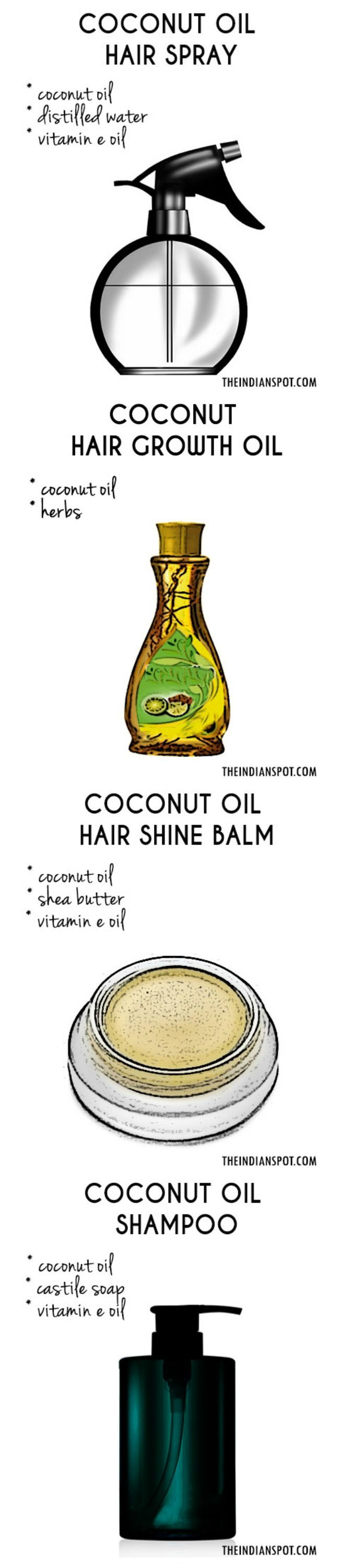BEST DIY COCONUT OIL HAIR PRODUCTS FOR FASTER HAIR GROWTH