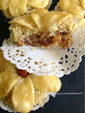 C     À la proche de l'Aid voici mon nouveau gâteau au miel. Juste une merveille qui fond dans la bouche .   J'ai donné le nom de la boucle...
