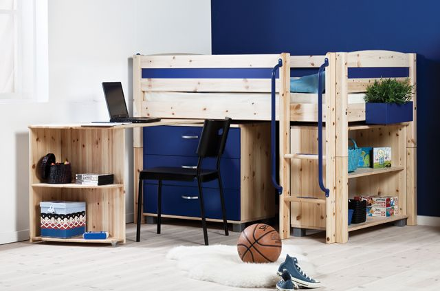 Thuka Trendy Shorty Cabin Bed with desk chest and bookcase image