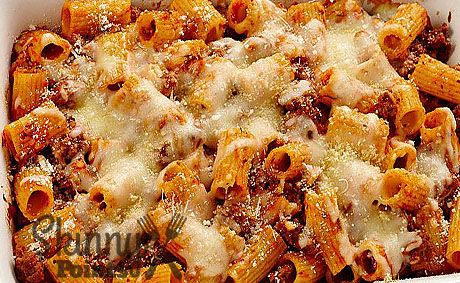 BAKED RIGATONI 15 minprep time 35 mintotal time 6ingredients 8servings Ingredients 2 1/2cups uncooked whole wheat rigatoni pasta (about 7 oz) 1lb ground beef sirloin 1jar (26 oz) Muir Glen™ organic tomato basil pasta sauce 1 1/2cups shredded part-skim mozzarella cheese (6…