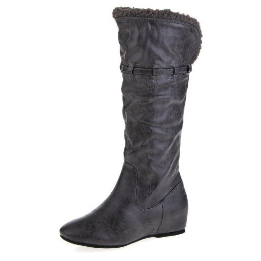 15, 29 Euro Damen Schuhe, STIEFEL, BOOTS USED LOOK KEIL WEDGES, 55-397, Synthetik in hochwertiger Leder Optik, Dunkelgrau, Gr 38: Amazon.de: Schuhe & Ha...