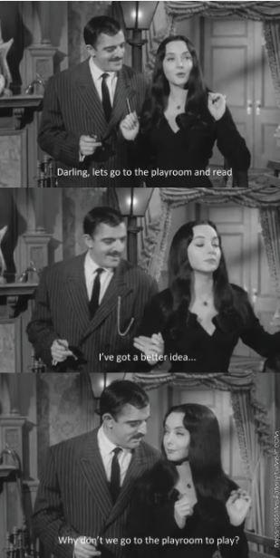 Gomez and Morticia Addams
