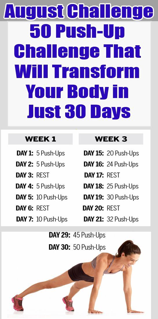 50 sfide push-up che trasformeranno il tuo corpo in soli 30 giorni