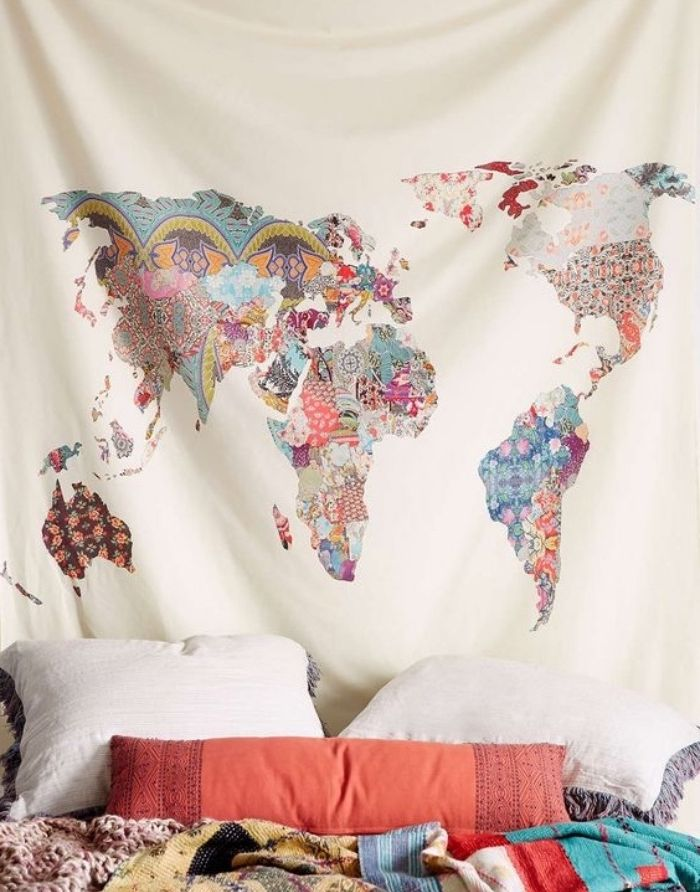 les 25 meilleures id es de la cat gorie t te de lit de toile sur pinterest d corations murales. Black Bedroom Furniture Sets. Home Design Ideas