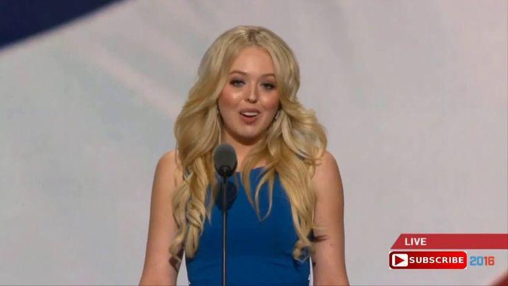 Tiffany Trump Donald Trumps Daughter Speech at Republican National Conve...