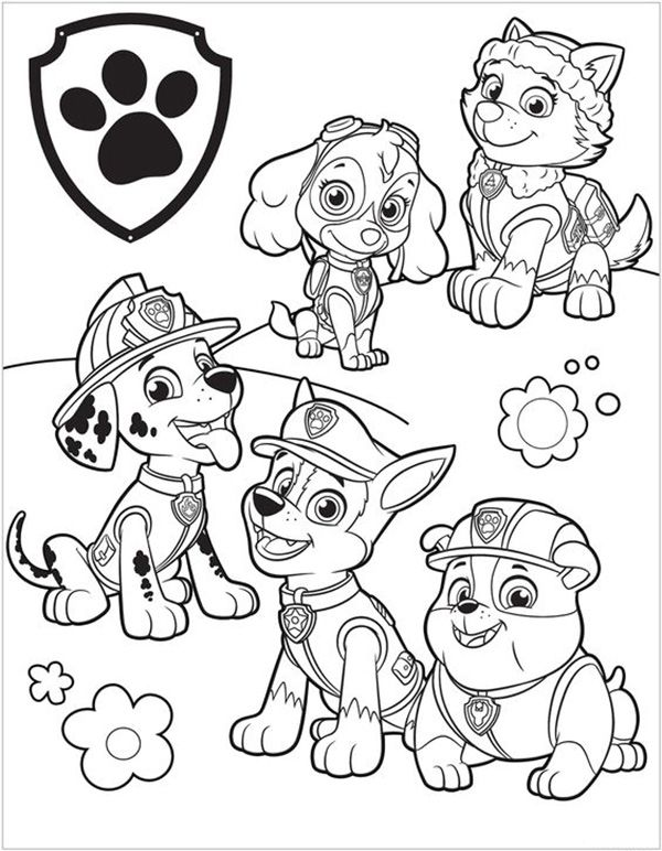 Dibujos De La Patrulla Canina Para Colorear Gratis Patrulla