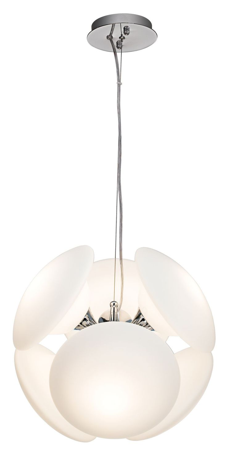 Mushrooms White 14 Inch H Possini Euro Modern Pendant    EuroStyleLighting.com