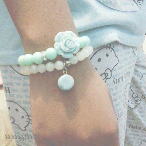 love tiffany blue! #jewelry #armcandy #bracelet #handmade #clayart