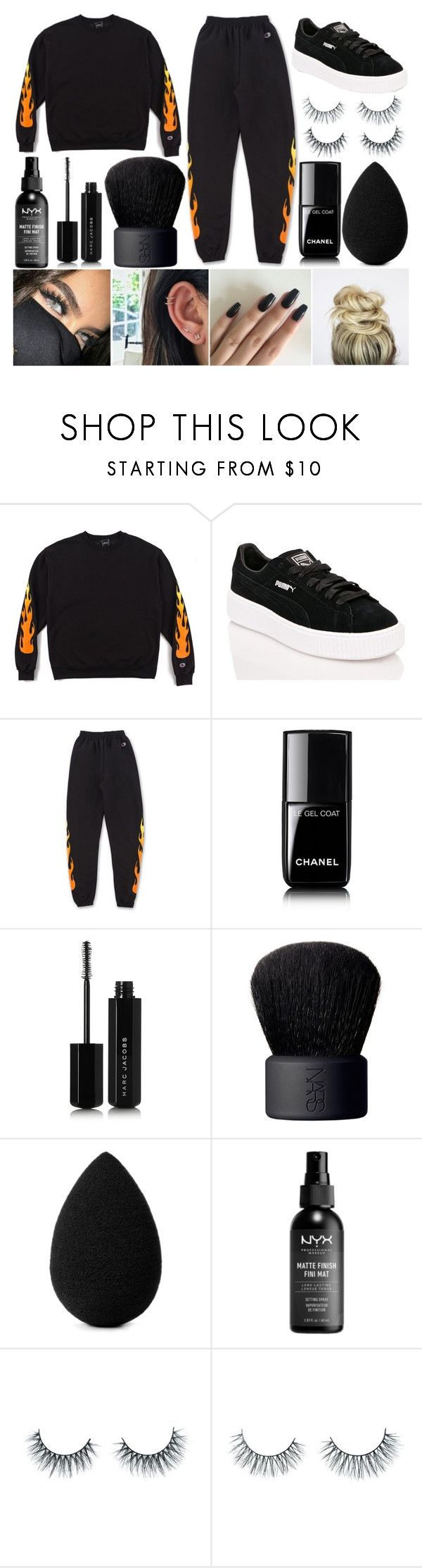 """Chill Day"" by susanna-trad on Polyvore featuring Puma, Chanel, Marc Jacobs, NARS Cosmetics, beautyblender and Unicorn Lashes"
