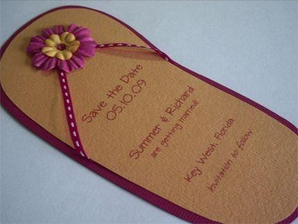 Flip Flop Wedding Invitations Source Sdweddinginsider Com