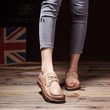 Shangmsh Ручной старинные женщин женская обувь из натуральной кожи мокасины мокасины мягкие Удобные повседневная обувь квартиры Плюс Размер(China (Mainland))