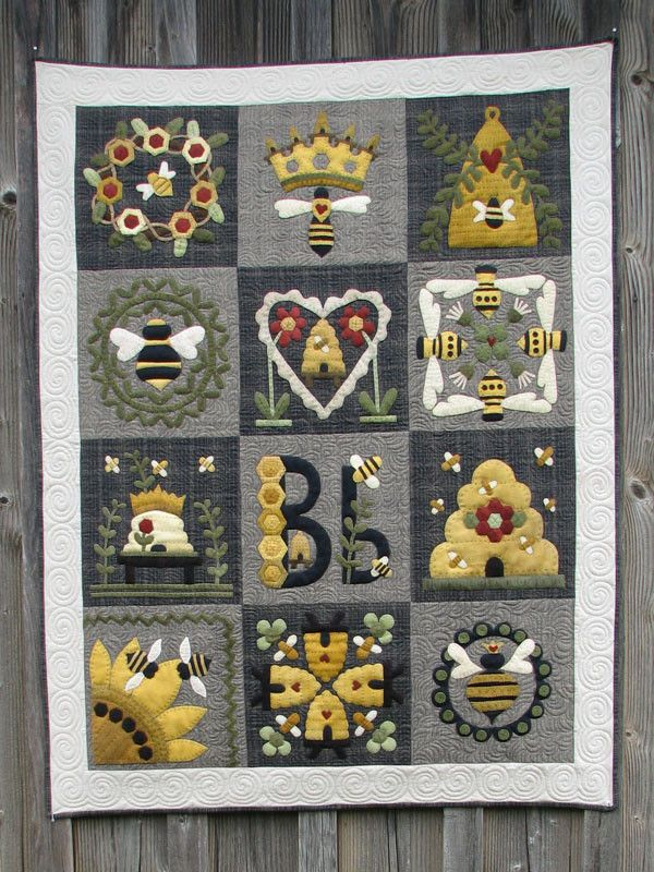 Blessed Bee Quilt Wooden Spool Designs Quilts