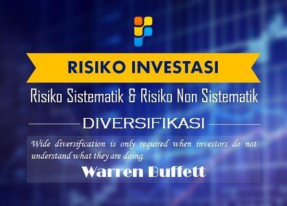 Risiko sistematis dan risiko non sistematis adalah dua jenis risiko yang Kita (investor) akan ditemui. Tidak semua risiko dapat didiversifikasi. Finansialku.com akan membahas mengenai risiko sistematis dan risiko non sistematis dalam investasi.   selengkapnya --> http://shar.es/QYqau