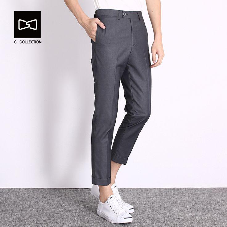 2017 Men's Casual Pants Men Fashion Pants Trousers Slim Fit Ankle-Length Pants Spring Summer Straight Cool Men pants