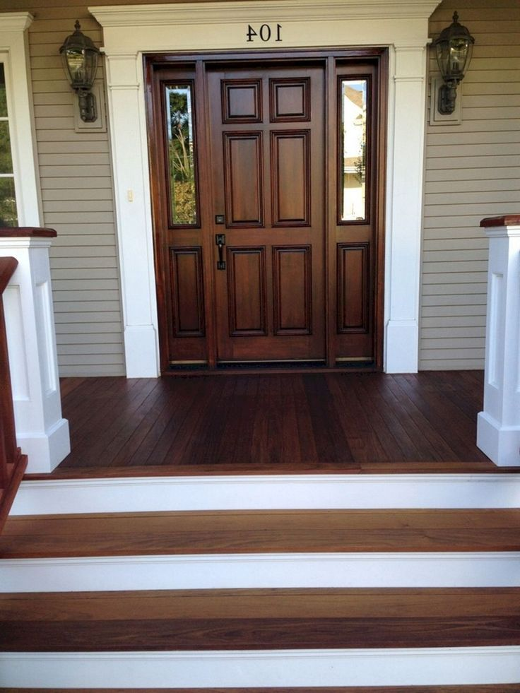 49+ Unbelievable Front Porch With Wooden Ipe Deck Ideas
