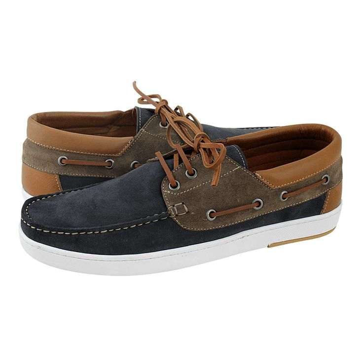 Beetz - Ανδρικά boat shoes Damiani από καστόρι και δέρμα - Gianna Kazakou Online