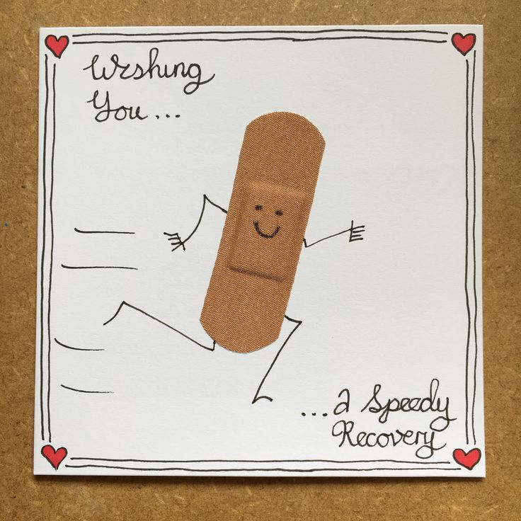 handcrafted get well card … verbandcharakter lä…