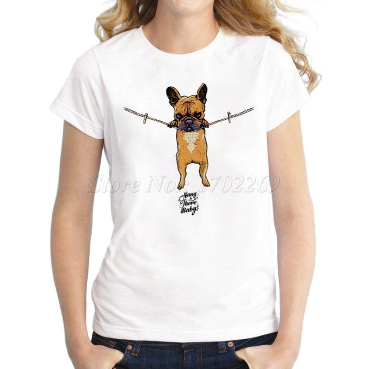 2016 appendere in là del bambino donne t shirt fumetto stampato francese  Bulldog stampato lady manica corta t shirt novità divertente cool  Tee in            Gentile cliente, tutte le magliette sono      Formato asiatico      ,           Pls controllare la tabeda T-shirt su AliExpress.com | Gruppo Alibaba