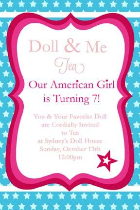 American Girl Doll Printable Party By Thefrogandthepeach On Etsy