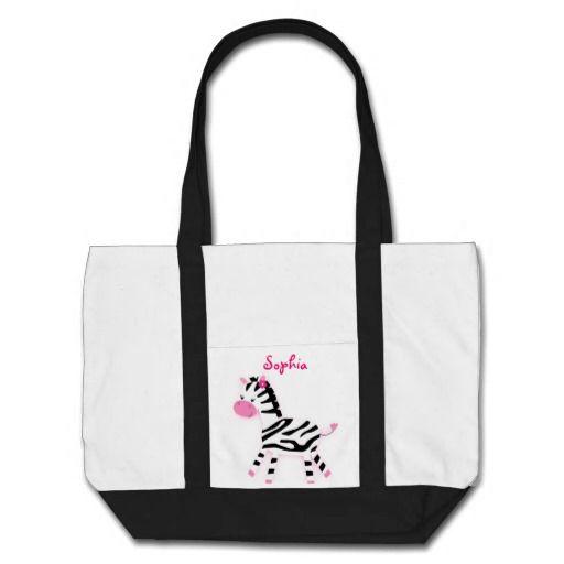 Sweet Pink Zebra Tote Bag Diaper Bag