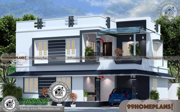 Modern New House Designs 50 Two Storey Designs Stylish Plans Kerala House Design Architectural Design House Plans Indian House Exterior Design