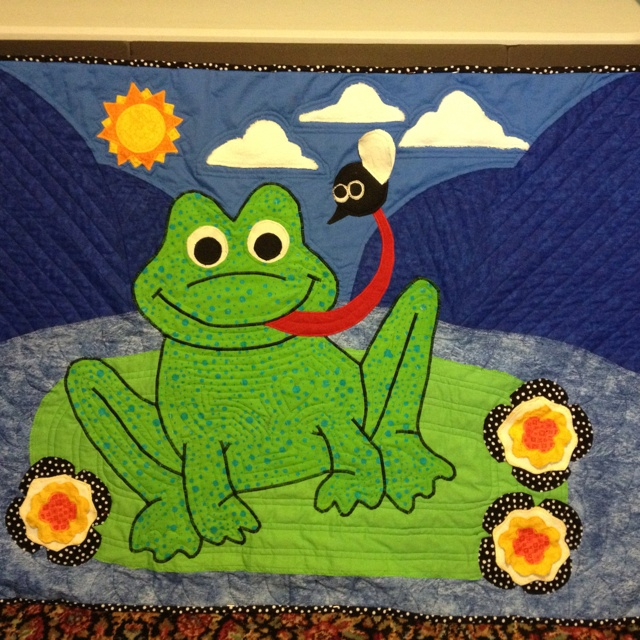 Frog Quilt: 114 Best Frog Quilts Images On Pinterest