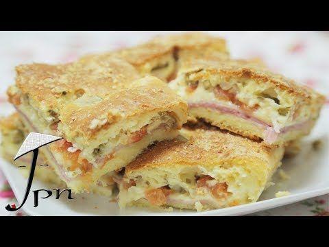 Receita de torta de liquidificador de queijo e presunto - YouTube