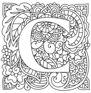 Craft Delicate Charm With This Mehndi Style Letter Downloads As A PDF Use Pattern