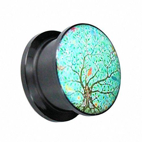 KULTPIERCING - Acryl Flesh Tunnel Ohr Plug Baum Motiv 8 mm Kultpiercing http://www.amazon.de/dp/B00QAJ9K1K/ref=cm_sw_r_pi_dp_qNSJub0R9N1GM