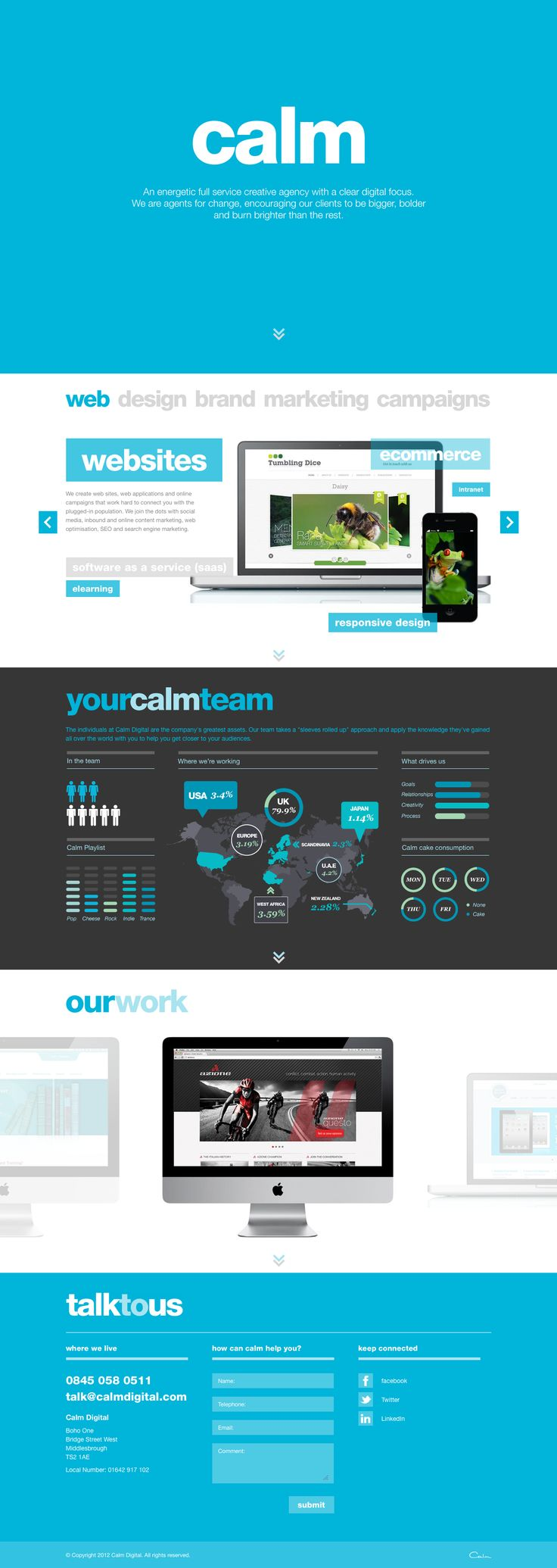 Calm Digital website