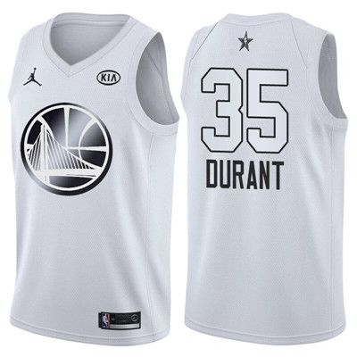 9eb0111df Nike Warriors  35 Kevin Durant Jordan Brand White 2018 All-Star Game  Swingman Jersey  WarriorsWeek  DubNation  NBAFinals  WarriorsParade   WarriorsGround ...