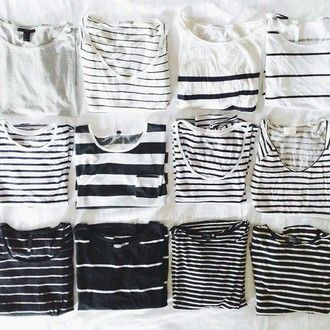 t-shirt grunge hipster aesthetic tumblr soft grunge fashion indie stripes black black and white pale
