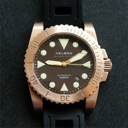 Shark Diver 42 bronze brown