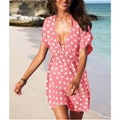 Polka Dot Gore-tex/Water Resistant Sports/Outdoor Casual Cover-Up/Pareo/Sarong One-Piece for Women Girl Ladies