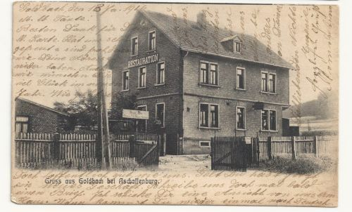 Gruss OUS Goldbach Bei Aschaffenburg Restauration Germany Old Vintage Postcard | eBay