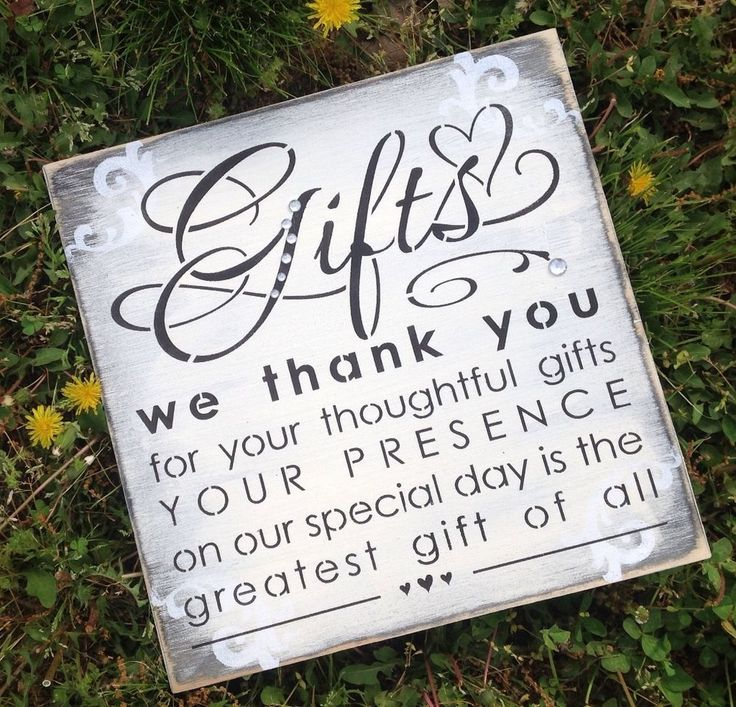 Rustic Wedding Gift Table Sign Shabby Chic Decor Supplies