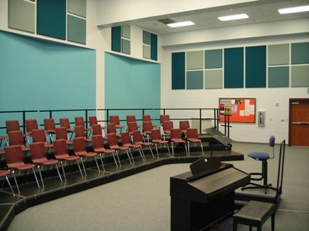 Choir Room-those are the type of risers I need!