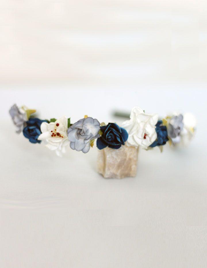 cintillo flores azules