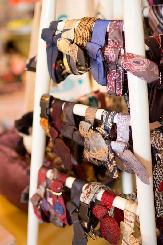 thwap! vintage dog tie collars.: Vintage Ties, Tie Collars, Dog Collars, Vintage Dog, 15 Ties, Vintage Ladder, Doggie Ties