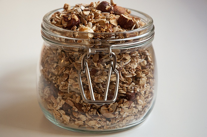 Hjemmelavet Musli - granola recipe Also add homemade applesauce!