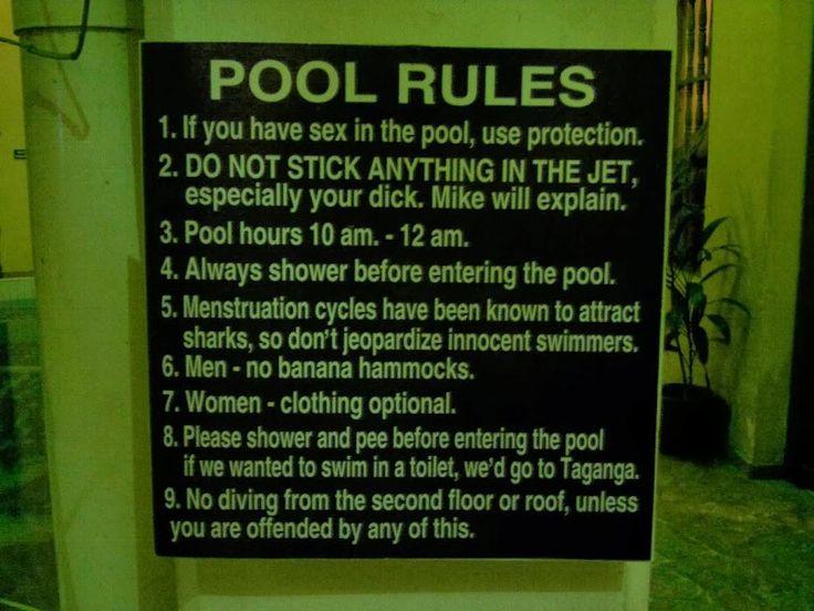 This swimming pool rules... #funny #meme #LOL #humor #funnypics #dank #hilarious #like #tumblr #memesdaily #happy #funnymemes #smile #bushdid911 #haha #memes #lmao #photooftheday #fun #cringe #meme #laugh #cute #dankmemes #follow #lol #lmfao #love #autism #filthyfrank #trump #anime #comedy #edgy